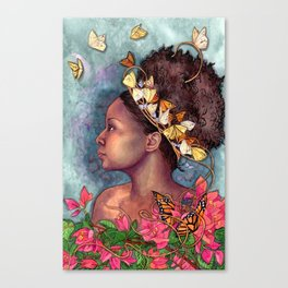 Bougainvillea and Butterflies  Canvas Print