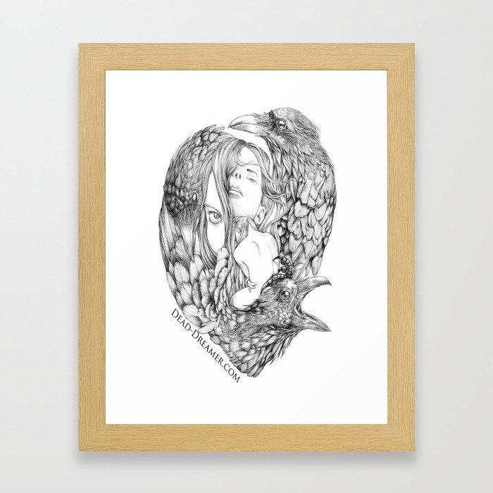 To Dream is to Die - Line Framed Art Print