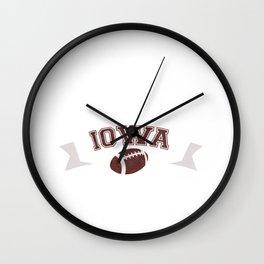 Just a Baller from Iowa Football Player Wall Clock