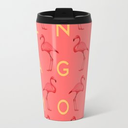 Flamingos #4 Travel Mug