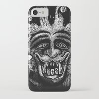 mythology iPhone & iPod Cases featuring Shadow Beast Mythology by Anya Campbell by BohemianBound