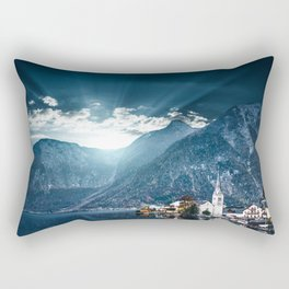 hallstatt in austria Rectangular Pillow