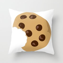 Yummy Chocolate Chip Cookie Throw Pillow