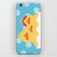 ducks iPhone & iPod Skins featuring Ducks by SANTA