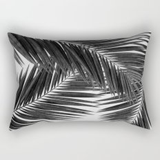 Palm Leaf Black & White III Rectangular Pillow