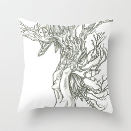 I grew this so you would visit. Throw Pillow