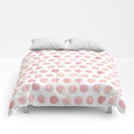 Watercolor Polka Dot Comforters