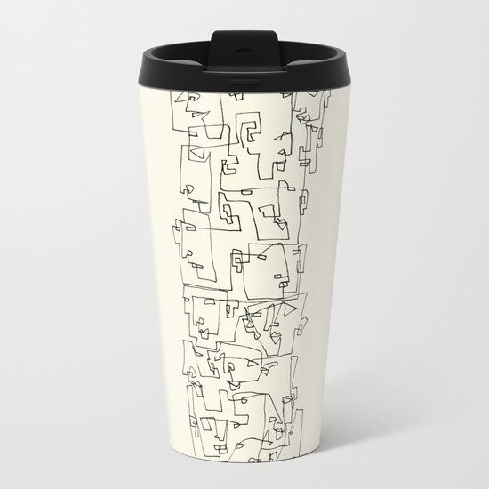 Blocks Metal Travel Mug