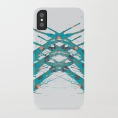 Inkdala IX - Blue Rorschach Art iPhone X Slim Case