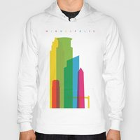 fargo Hoodies featuring Shapes of Minneapolis by Glen Gould