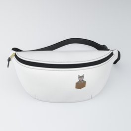 Adorable Puppy Peeking Out Of Your Pocket Dog Fanny Pack