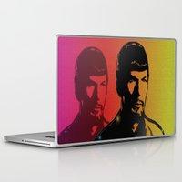 spock Laptop & iPad Skins featuring Spock by SVA🌺Silvia Van