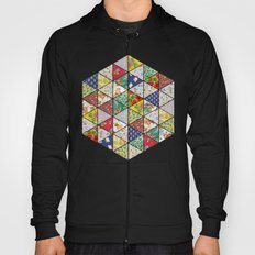 Geometric Floral Quilt Hoody