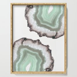 Light Water Agate Serving Tray