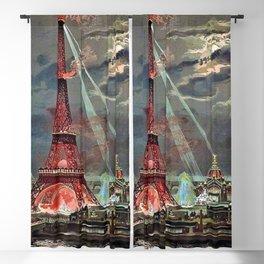 The Eiffel Tower, Paris, France by Georges Garen Blackout Curtain
