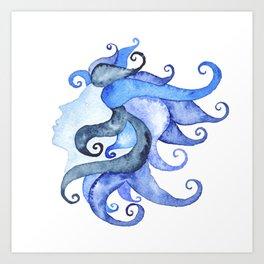 Mermaid Head Art Print