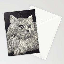 Scratchboard Cat Stationery Cards