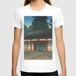 Starry Night at Temple, Ukiyo-e T-shirt