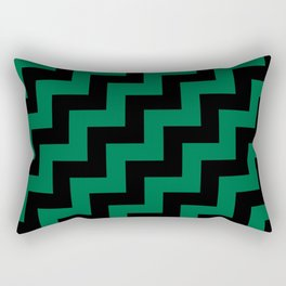 Black and Cadmium Green Steps RTL Rectangular Pillow