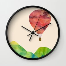 Sunset balloon Wall Clock