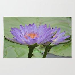 Blue Water Lilies in Hangzhou Rug