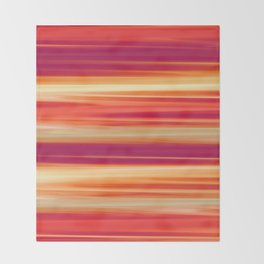 Sunset Abstract Throw Blanket