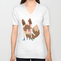 sylveon V-neck T-shirts featuring Sylveon by Dani Tea