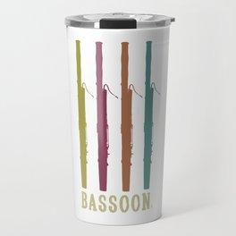 Retro Bassoon Bassoonist Bass Music Musician Travel Mug