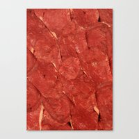meat Canvas Prints featuring mEAT by Jevan Strudwick