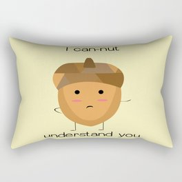 Confused Acorn Rectangular Pillow