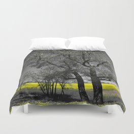 The Beauty of Canola Fields Duvet Cover