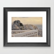 Snow 3 Framed Art Print