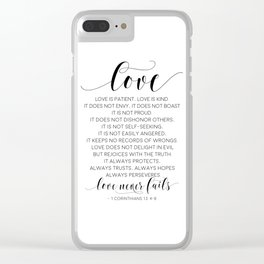 DEFINITION OF LOVE, Love Is Patient Love Is Kind,Love Quote,Love Art,Love Gift,Darling Gift,Love you Clear iPhone Case