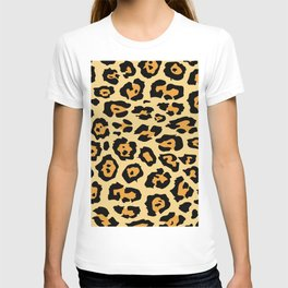 safari animal brown and tan cheetah leopard print T-shirt