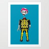 Playmo_Zombie_by LelosLovesYou Art Print