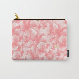 Hand painted coral white faux gold watercolor floral Carry-All Pouch