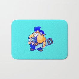 Cute hamster handy-man Bath Mat