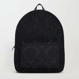 Black damask - Elegant and luxury design Backpack