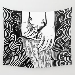 Slipping thru my Fingers Wall Tapestry