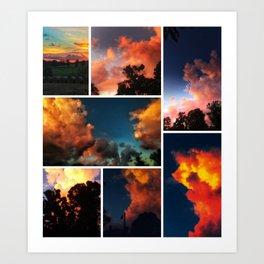Sunset Collage II Art Print