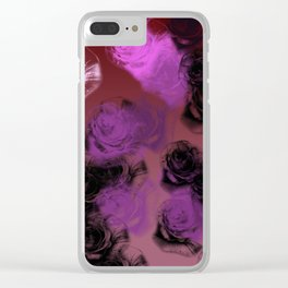 An Illustration of Rose Buds Clear iPhone Case