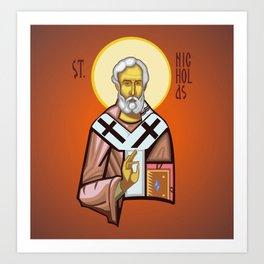 St. Nicholas of Myra Art Print