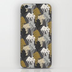 Arboreal Silhouettes - Golds & Silvers iPhone & iPod Skin