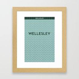 WELLESLEY | Subway Station Framed Art Print