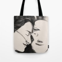 fault in our stars Tote Bags featuring The Fault in Our Stars by Eleanor Dapre