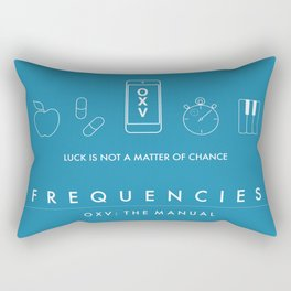 FREQUENCIES (OXV: THE MANUAL) OFFICIAL AUSTRALIAN RELEASE POSTER (BLUE) Rectangular Pillow