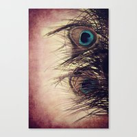 peacock feather Canvas Prints featuring Peacock Feather by KunstFabrik_StaticMovement Manu Jobst