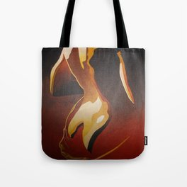 Young Beautiful Nude Woman With Towel Tote Bag