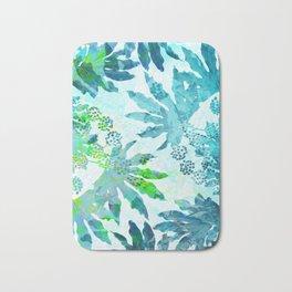 Tropical adventure - Blue Bath Mat