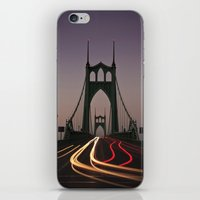 marc johns iPhone & iPod Skins featuring St. Johns Bridge by Cameron Booth